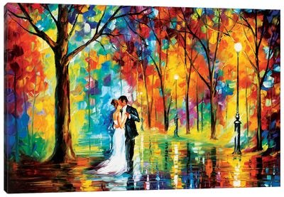 Rainy Wedding Canvas Art Print