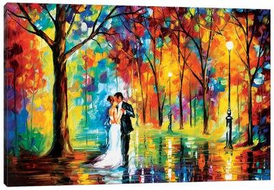 Rainy Wedding Canvas Art Print