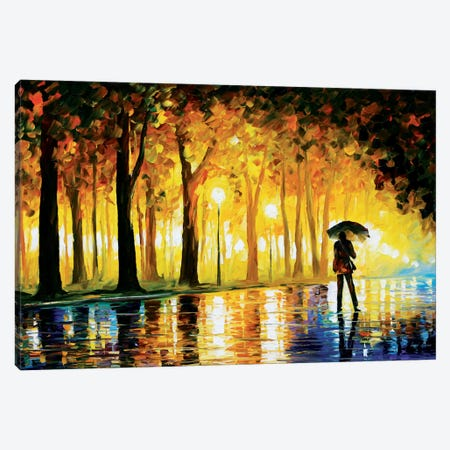 Bewitched Park Canvas Print #LEA6} by Leonid Afremov Canvas Artwork