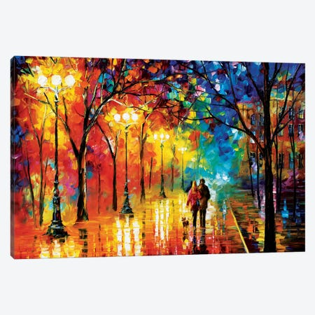 Romantic Evening Canvas Print #LEA70} by Leonid Afremov Canvas Artwork