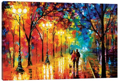 Romantic Evening Canvas Art Print