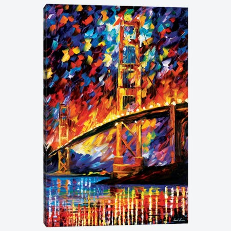 San Francisco - Golden Gate Canvas Print #LEA73} by Leonid Afremov Canvas Artwork