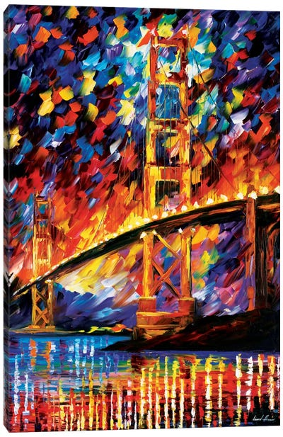 San Francisco - Golden Gate Canvas Print #LEA73