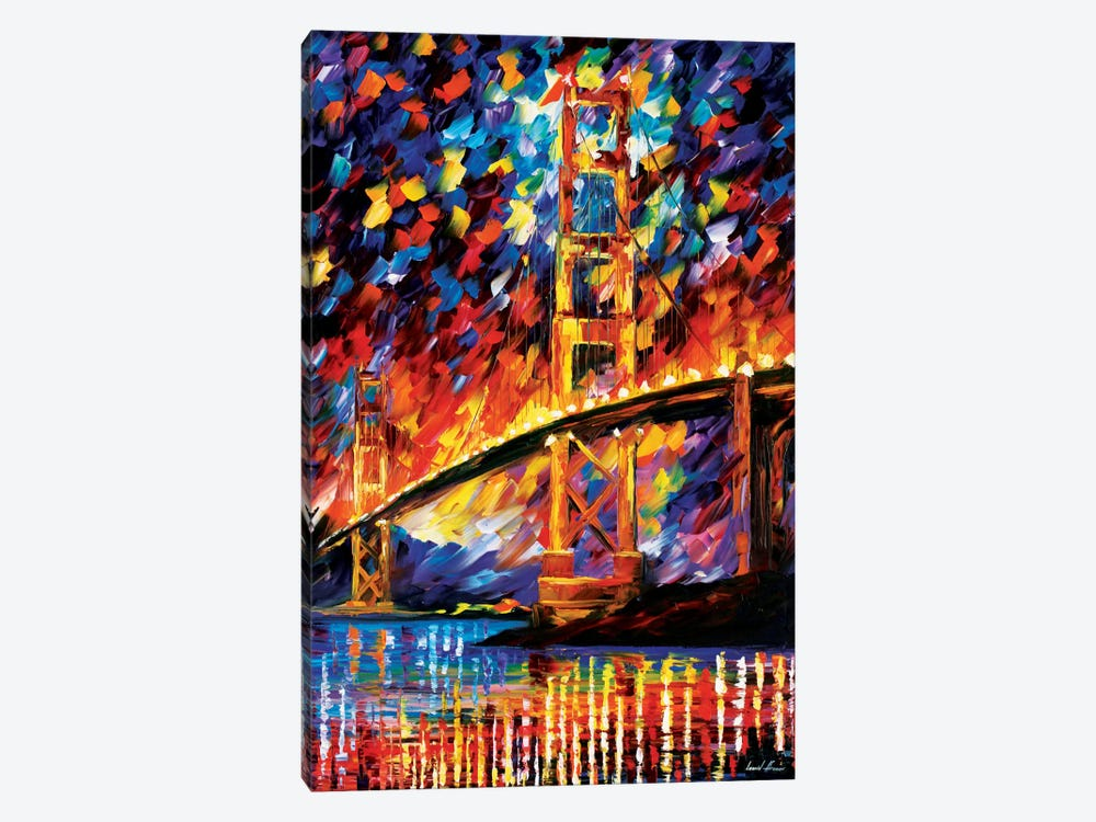 San Francisco - Golden Gate by Leonid Afremov 1-piece Canvas Print