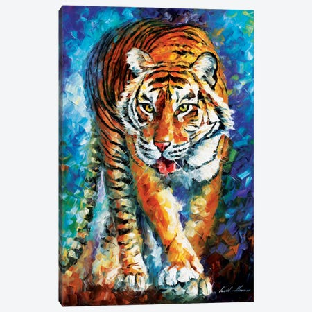 Scary Tiger Canvas Print #LEA74} by Leonid Afremov Canvas Art Print
