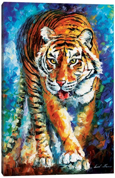 Scary Tiger Canvas Art Print