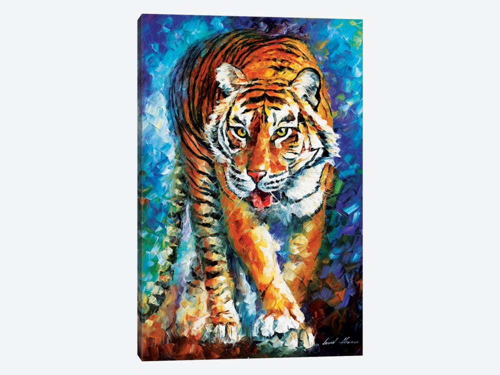 Scary Tiger by Leonid Afremov 1-piece Canvas Wall Art