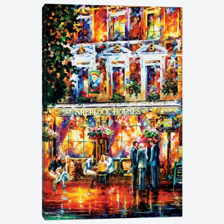 Sherlock Holmes Canvas Print #LEA76} by Leonid Afremov Canvas Art Print