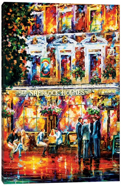 Sherlock Holmes Canvas Print #LEA76