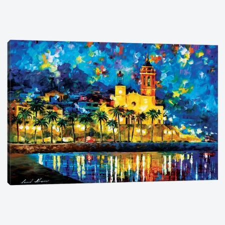 Spain, Sitges Canvas Print #LEA77} by Leonid Afremov Canvas Art Print