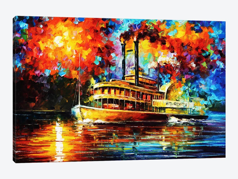 Steamboat by Leonid Afremov 1-piece Art Print