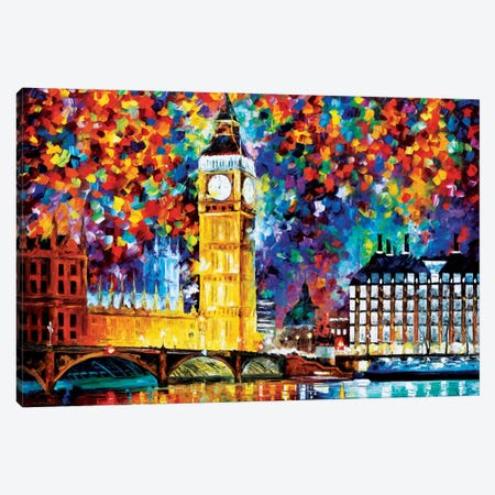 Big Ben - London 2012 Canvas Print #LEA7} by Leonid Afremov Canvas Art