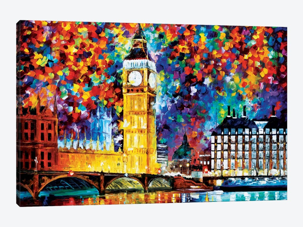 Big Ben - London 2012 by Leonid Afremov 1-piece Canvas Wall Art
