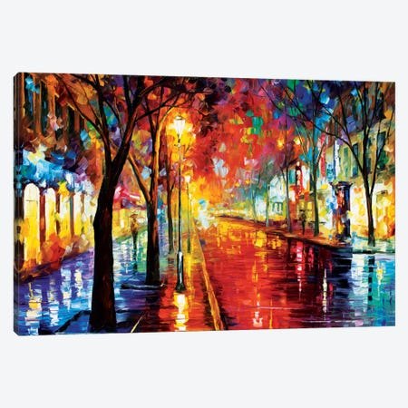 Street Of The Old Town Canvas Print #LEA80} by Leonid Afremov Canvas Print