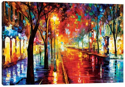 Street Of The Old Town Canvas Art Print