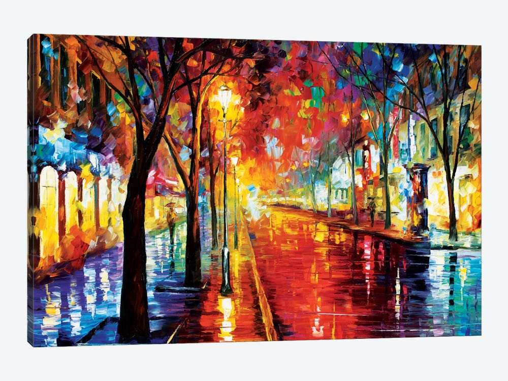 Street Of The Old Town Art Print By Leonid Afremov Icanvas