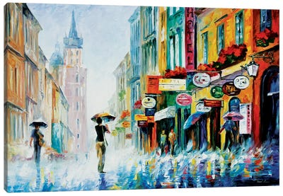 Summer Downpour Canvas Art Print