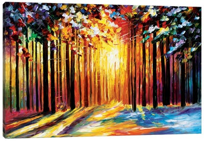 Sun Of January by Leonid Afremov Canvas Wall Art