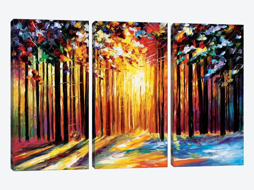 Sun Of January by Leonid Afremov 3-piece Canvas Art Print