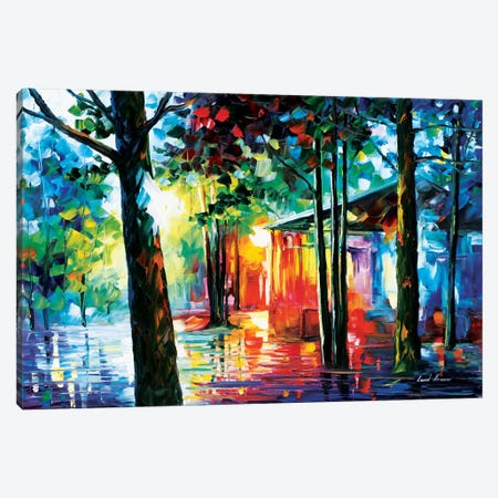 Sunlight In The Drops Canvas Print #LEA85} by Leonid Afremov Canvas Artwork