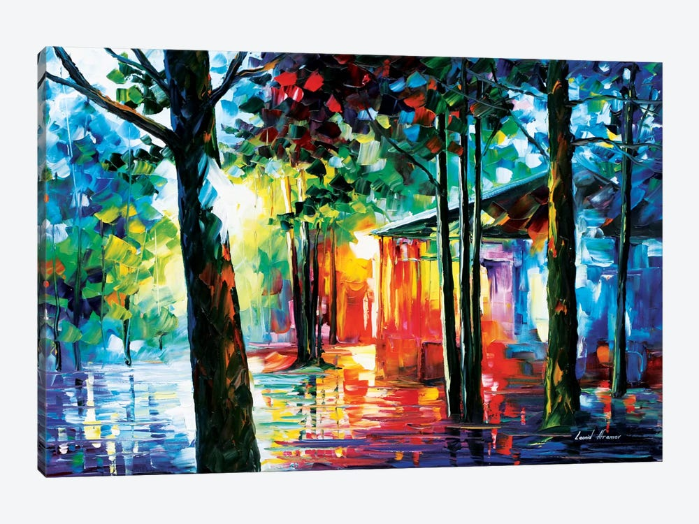 Sunlight In The Drops by Leonid Afremov 1-piece Canvas Artwork
