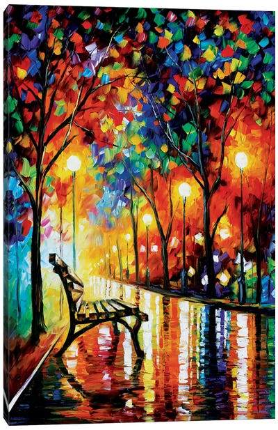 The Loneliness Of Autumn by Leonid Afremov Canvas Art Print