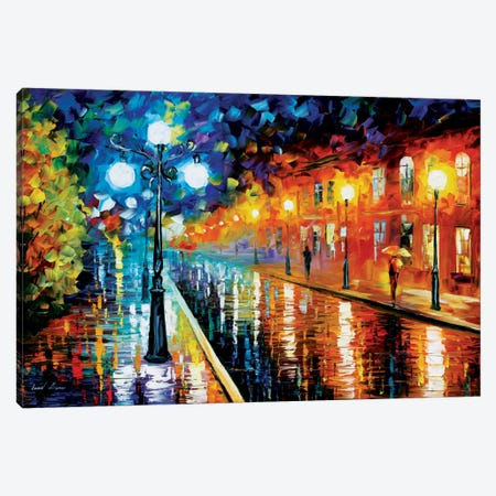 Blue Lights I Canvas Print #LEA8} by Leonid Afremov Art Print
