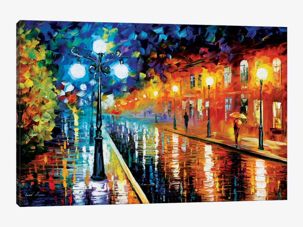 Blue Lights I by Leonid Afremov 1-piece Canvas Art Print