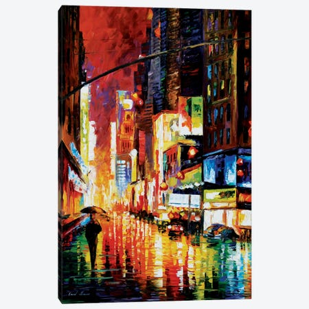 Times Square Canvas Print #LEA92} by Leonid Afremov Canvas Wall Art