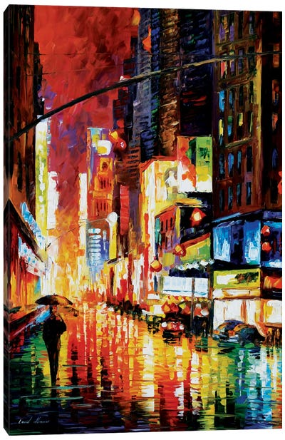 Times Square Canvas Art Print