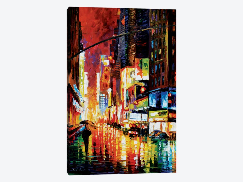 Times Square by Leonid Afremov 1-piece Canvas Artwork
