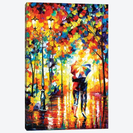Under One Umbrella Canvas Print #LEA95} by Leonid Afremov Canvas Print