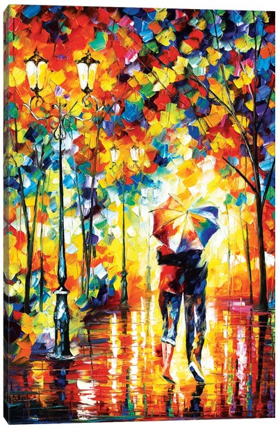 Under One Umbrella by Leonid Afremov Canvas Print