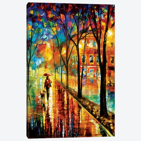 Walk With Dog Canvas Print #LEA97} by Leonid Afremov Art Print