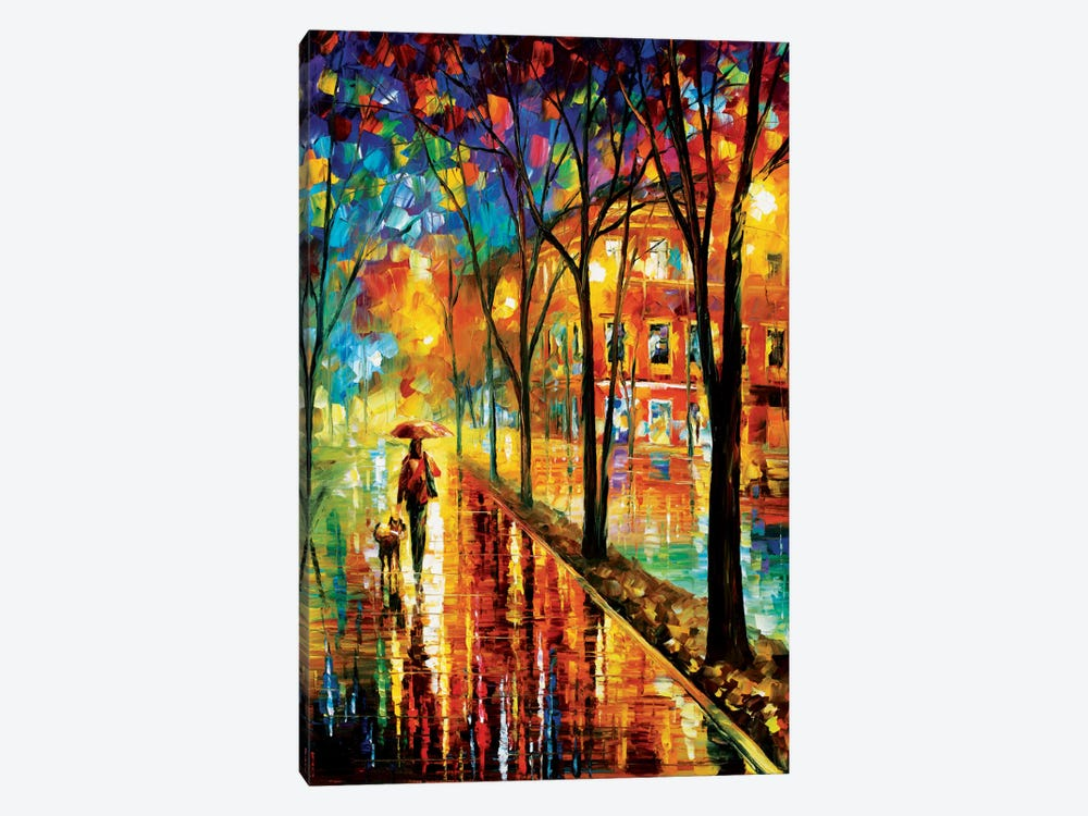 Walk With Dog by Leonid Afremov 1-piece Art Print