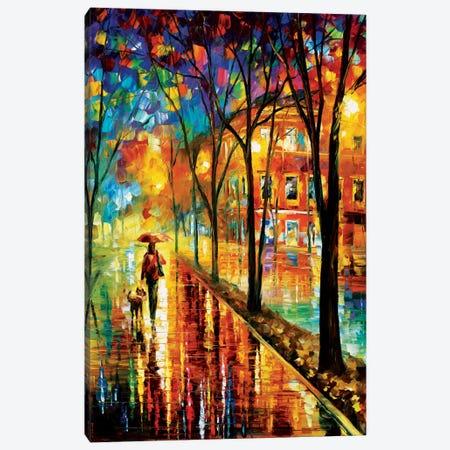 Walk With Dog Canvas Print #LEA97} by Leonid Afremov Art Print
