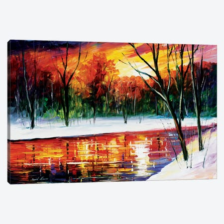 Winter Spirit Canvas Print #LEA99} by Leonid Afremov Canvas Artwork