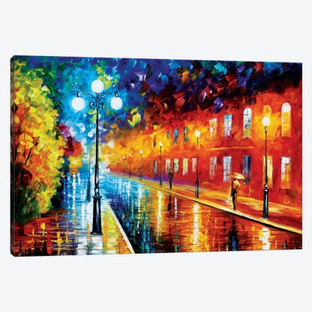 Blue Lights II Canvas Print #LEA9} by Leonid Afremov Art Print