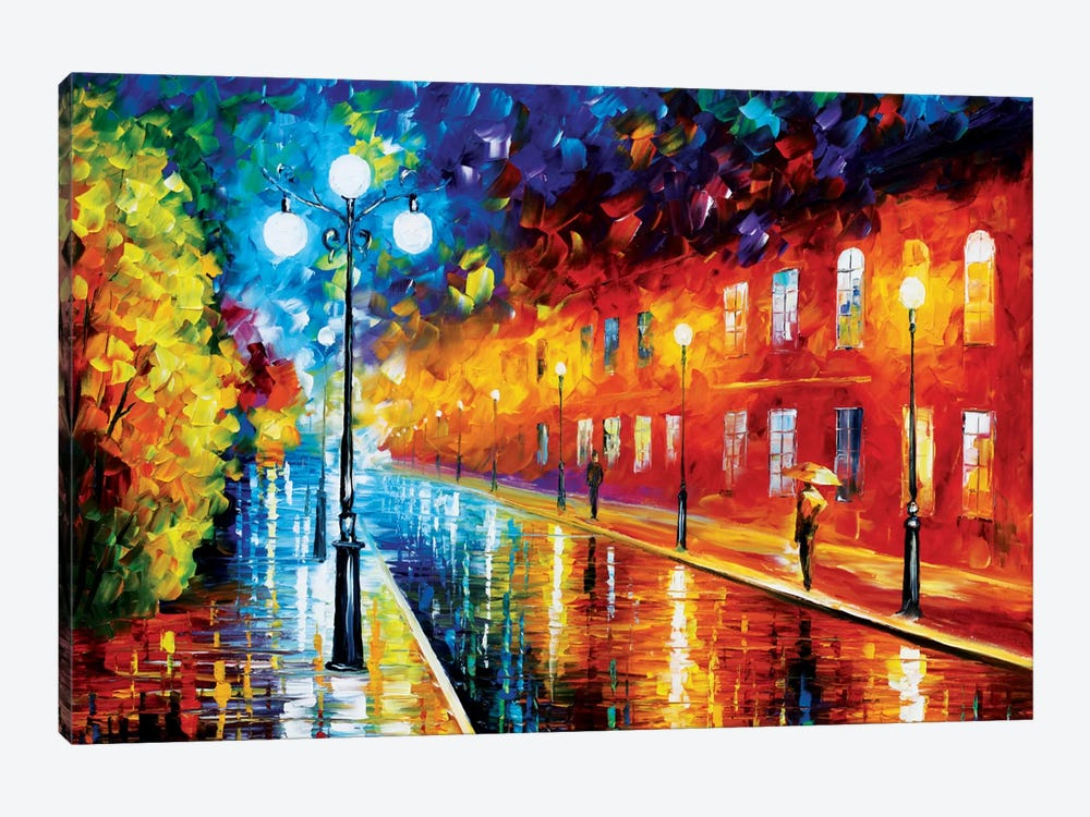 Blue Lights II by Leonid Afremov 1-piece Canvas Art