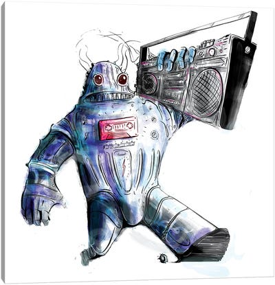 Ghetto Bot Solo Canvas Art Print