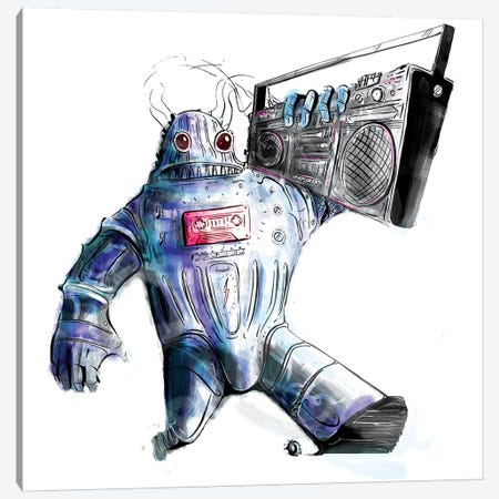 Ghetto Bot Solo Canvas Print #LEC13} by Lewis Campbell Canvas Wall Art