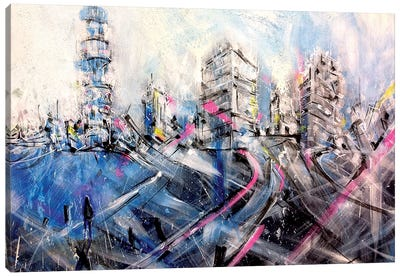 London Lights Canvas Art Print