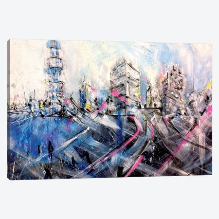 London Lights Canvas Print #LEC15} by Lewis Campbell Art Print