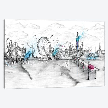 London Skyline Canvas Print #LEC16} by Lewis Campbell Art Print