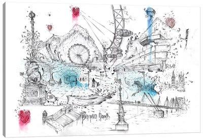London Southbank Canvas Art Print