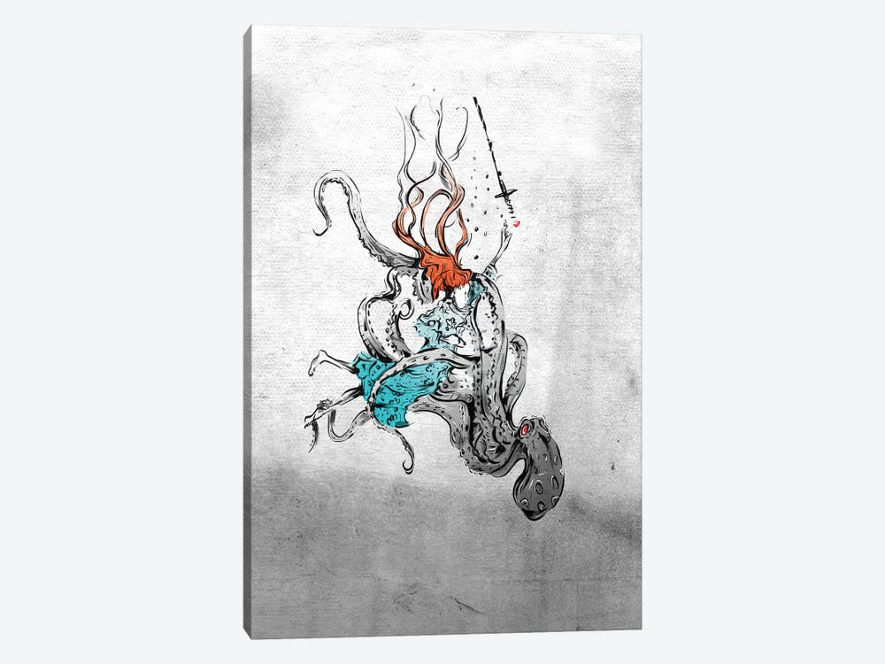 Alice And The Octopus by Lewis Campbell 1-piece Canvas Wall Art