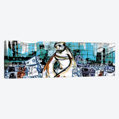 Monkey Boy And The Robots Canvas Print #LEC22} by Lewis Campbell Art Print
