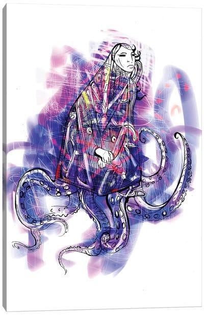 Octo-Girl Canvas Art Print
