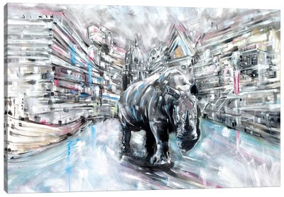 Rhino Canvas Art Print