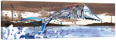 Shark Jockey Canvas Art Print